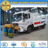 Dongfeng 6 Wheels Road Sweeper Truck with Guardrail Washing and Cleaning