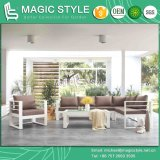 Outdoor Aluminum Sofa Set with Cushion Garden Corner Sofa Set Patio Furniture Modern Sofa with Glass
