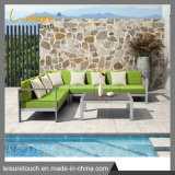 Outdoor Plastic Wood Table and Chair Aluminum Patio Leisure Sofa Set Furniture