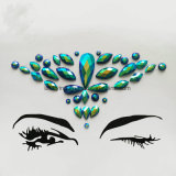 2018 Factory Custom Temporary Tattoo Sticker Crystal Face Gem Sticker for Festival
