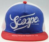 Promotional Printed Logo Baseball Mesh Snapback Cap (HY16033109)