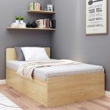 Modern Simple Board Wood Single Bed Cabinet for Loft Bedroom Furniture