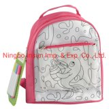 Craft and Art Making PU Drawing Colours Backbag with Colour Pen Toy for Kid