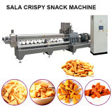High Quality and Twin-Screw Extruded Fried Wheat Flour Bugles Snacks Food Machines Corn Bugles Snack Chips Processing Line Salad Food Making Machine