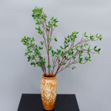 107cm Wedding Decorative Evergreen Plastic Ficus Artificial Leaves for Sale