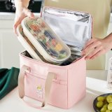 Wholesale Reusable Adult Lunch Tote Bag Office Leak Proof Cooler Bag Insulated Custom Print Aluminum Thermal Picnic Lunch Bag