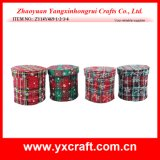 Christmas Decoration (ZY14Y469-1-2-3-4) Fabric Christmas Gift Case Box