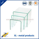 Living Room Furniture Curved Glass Nesting Coffee Table