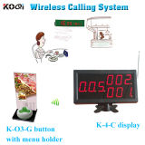 Smart Restaurant Table Menu Holder Wireless Service Calling System