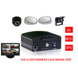 4CH HDD Mobile DVR, 4G/3G, GPS, WiFi for Option 8-36V Power Input