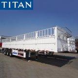 Titan 3 Axles 60 Tons Sidewall Cargo Multifunction Side Board Wall Stake Dropside Animal/Grain Transport Fence Truck Semi Trailer for Sale Price