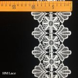 11cm Milk Silk Garment Trimming Fashion Design Embroidery Lace Trim Hma0343