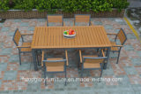 2017 New Design Plastic Wood Dining Table and Chair Outdoor Furniture Set