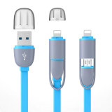 High Quality Common 2 in 1 Basket Noodle Data Cable for Android / iPhone