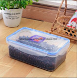 Clear Plastic Food Container, PP Rectangle Plastic Lunch Box 1200ml