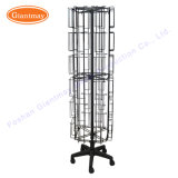 Wholesale Floor Metal Rotating Swivel Postcard Display Stand Metal Wire Card Holder