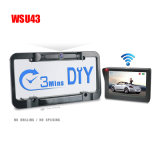 American 100% DIY 2.4G Solar Power Vehicle Rear Vision Camera Car Rearview Wireless License Plate Frame Backup Camera