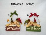 Wood Board Christmas Family Decoration Gift-2asst.