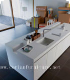 Custom Sized Solid Surface Corian Kitchen Island