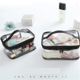 PVC Transparent Cosmetic Bags Women's Travel Waterproof Clear Wash Organizer Pouch Beauty Makeup Case Accessories Supplier