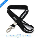 Factory Price Customized Printed Polyester Lanyard Carabiner Clip Cord Chain