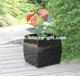 Fo-292 Garden Square Fiberglass Planter for Decor