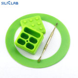 Silicone Wax Container Clamshell 25ml Clear Nonstick Tobacco/Weed/Jars for Smoking Pipe