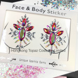 Rhinestone Sticker Body Decor Sticker Self Adhesive Gems Chest Nipple Sticker (S089)