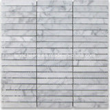 Hot Sale Oriental White - Eastern White Marble 1 X 2 Polished Strip Mosaic Tile