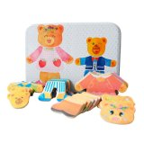 Wholesale Bear Dress up Magnetic Jigsaw Puzzle Game Toy