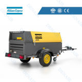 Atlas Copco Diesel Driven Air Compressor Matched with Jack Hammer