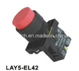 Lay5-EL42 Spring Return Convex Push Button