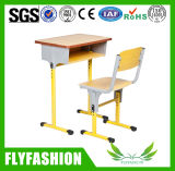 Middle Wooden Single School Student Desk and Chair (SF-01S)