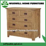Oak Wood 2+3 Drawer Cabinet Living Room Cabinet (W-CB-506)