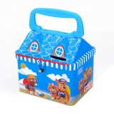 House Shape Cartoon Printing Candy Gift Tin Box with Handle