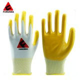 Cheaper CE En388 Nitrile Latex Coated Cotton Knit Safety Work Gloves for Construction Garden Industrial Working Gloves