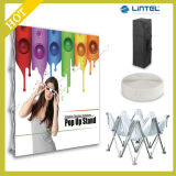 Aluminum Tube Tension Fabric Display Folding Pop up Banner Stand