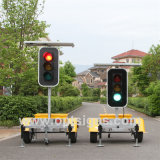 Optraffic Trailer Mounted Solar Powered Stop and Go LED Directional Traffic Signal Lights