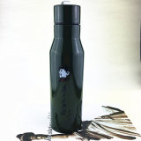 Newest Flip Lid Stainless Steel Vacuum Insulation Sports Bottle with Plastic-Spraying