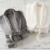 0182d53ff2 Thicker Coral Flannel Bath Robe Women Men Sleepwear Polyester Robes for  Unisex