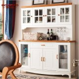 White Paint Household Wine Cabinet (GSP9-048)