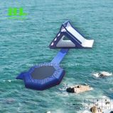 2 in 1 Inflatable Water Trampoline with Slide for Water Game
