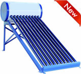 Non Pressurized Galvanized Stainless Steel Compact Vacuum Tube Solar Collector Energy Hot Water Heating System Solar Geyser Low Pressure Solar Water Heater