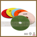 "Diamond Polishing Pad, Wet 4""X3mm 50# Grit, for Granite & Marble"