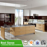 Contemporary Modern Restaurant Solid Surface Laminate Kitchen Cabinet Veneer Kitchen