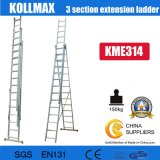 Aluminium 3 Section Extension Ladder 3X14