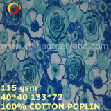40*40/133*72 Cotton Poplin Printed Fabric for T-Shirts Garment (GLLML424)