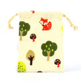 Custom Packing Drawstring Cotton Pouch Printing Gift Pouch (CCB-1029)