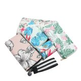 Popular Women Sublimation Floral Printing PU Leather Wallet with Extra Card Slot