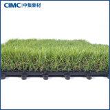 Outdoor Indoor Garden Interlocking Artificial Grass Tile and Sports Flooring for Home Decoration DIY
